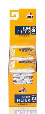 GIZEH Slim Filter Aktivkohle