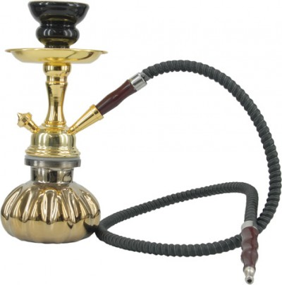 Atomic Hookah 25cm Gold Plated