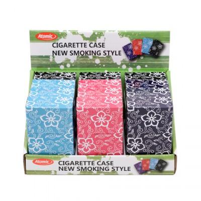 AT-Cigarette Case Tin Blumen